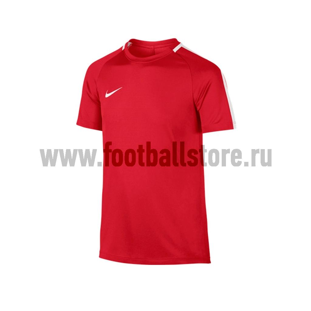 Футболка тренировочная Nike Boys Academy 832969-657 костюм спортивный nike dry academy 18 football tracksuit 893709 657 красн черн