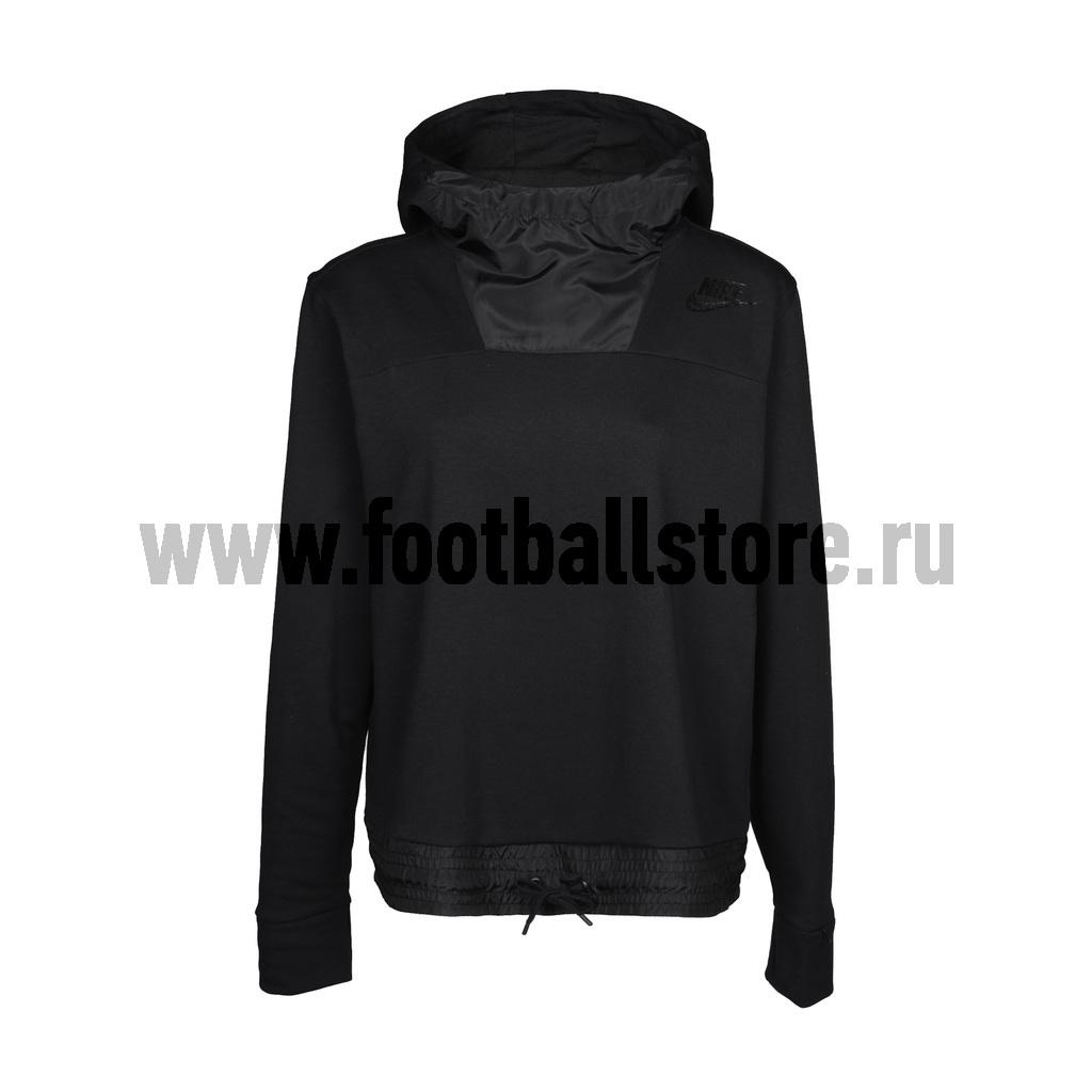 цена Свитера/Толстовки Nike Толстовка женская Nike Hoodie Fleece 804018-010 онлайн в 2017 году