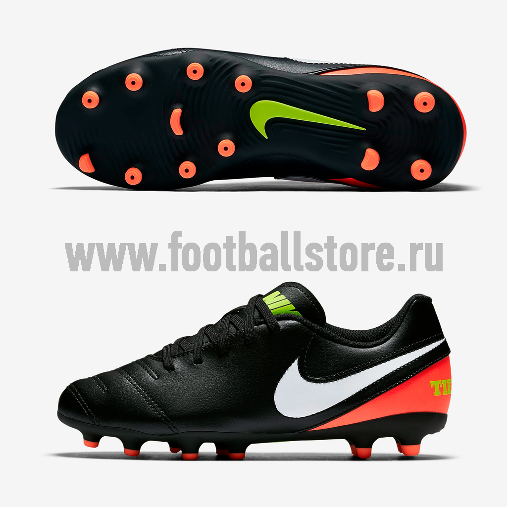 Бутсы Nike Бутсы Nike JR Tiempo Rio III FG 819195-018 nike бутсы nike tiempo flight sg 453958 013