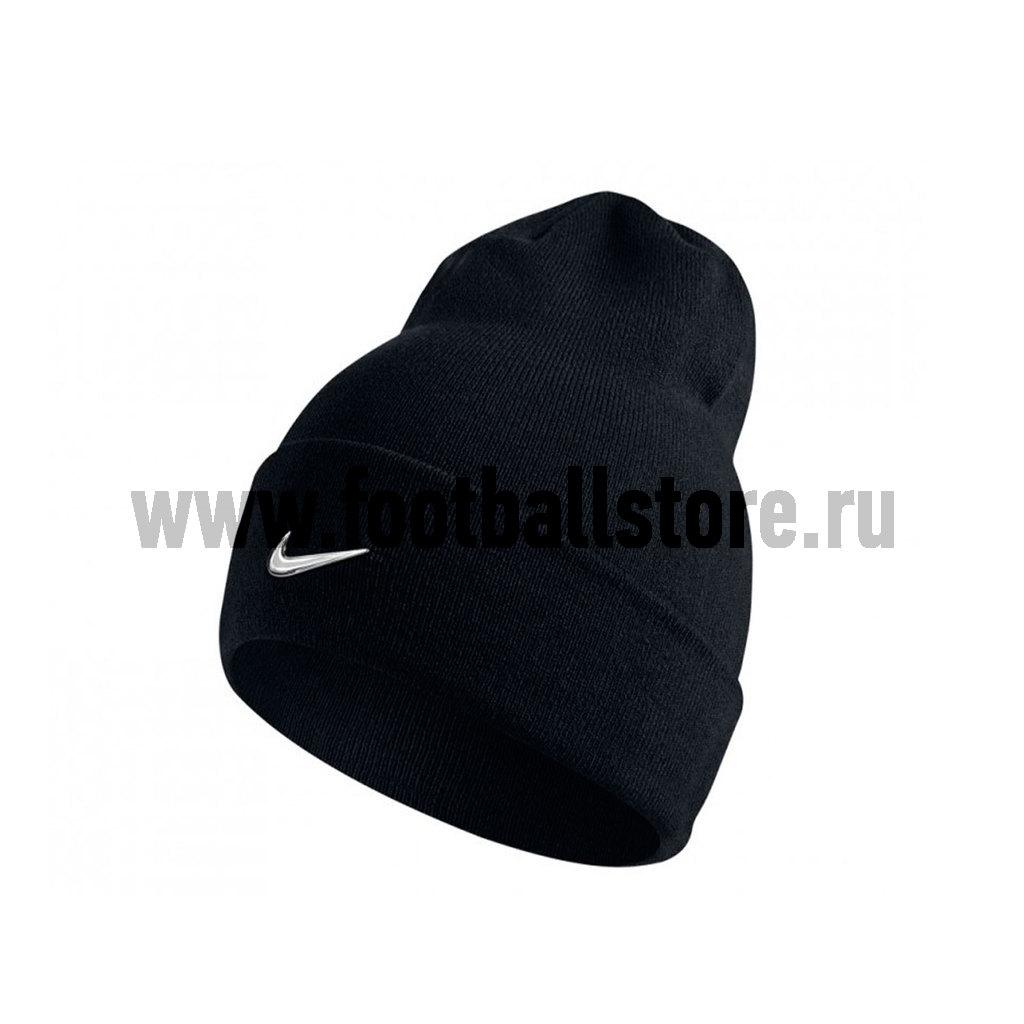 Головные уборы Nike Шапка Nike Swoosh Beanie Blue 803734-010