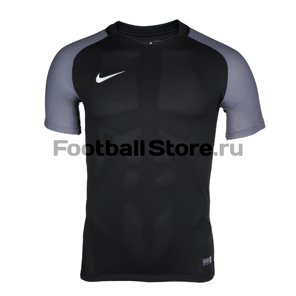Футболки Nike Футболка игровая Nike SS Revolution IV JSY 833017-010 термобелье верх поддевка nike core comp ss top yth sp15 522801 010 s l чёрный
