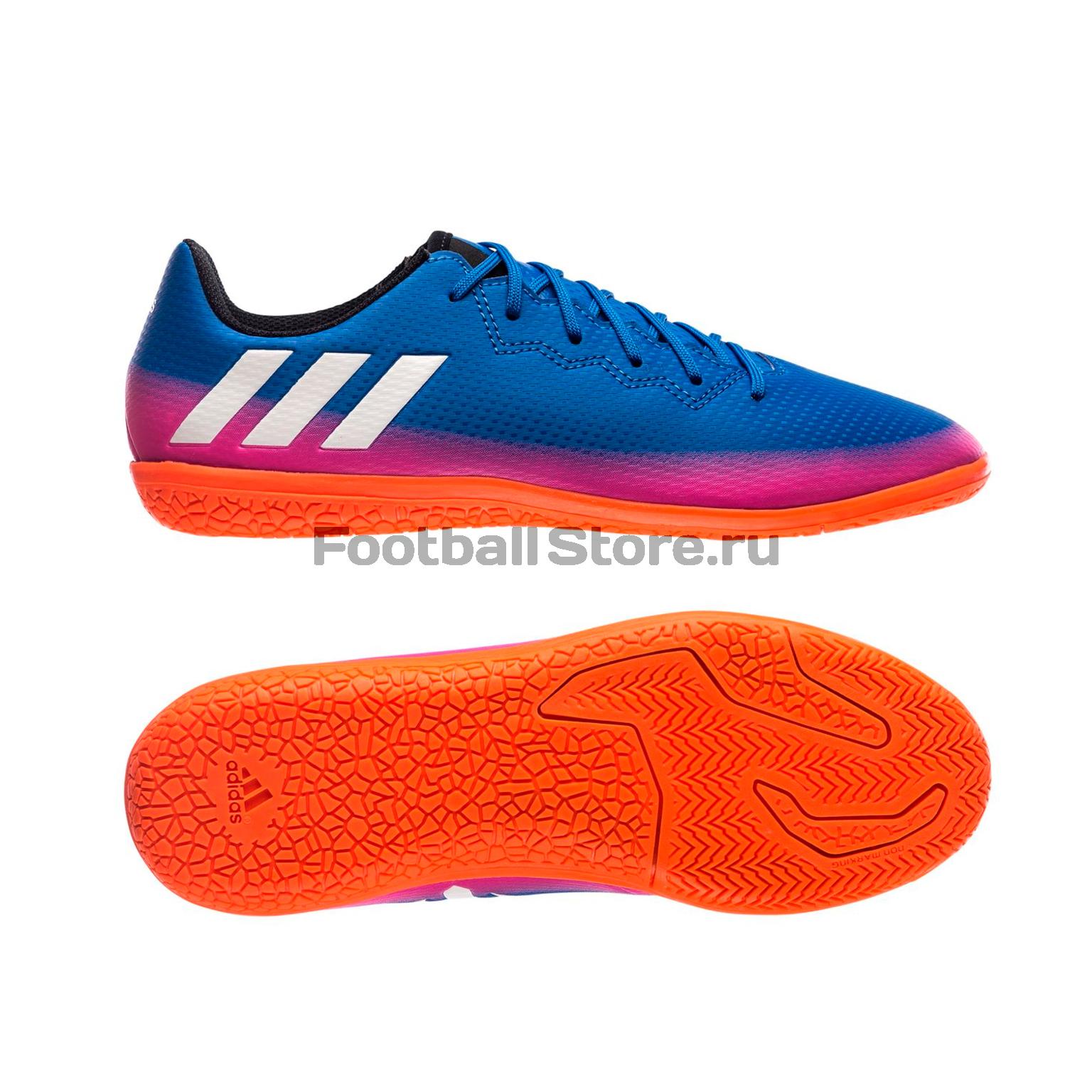 Бутсы Adidas Обувь для зала Adidas Messi 16.3 IN JR BB5652 бутсы adidas бутсы для зала дет спорт messi 16 3 in j