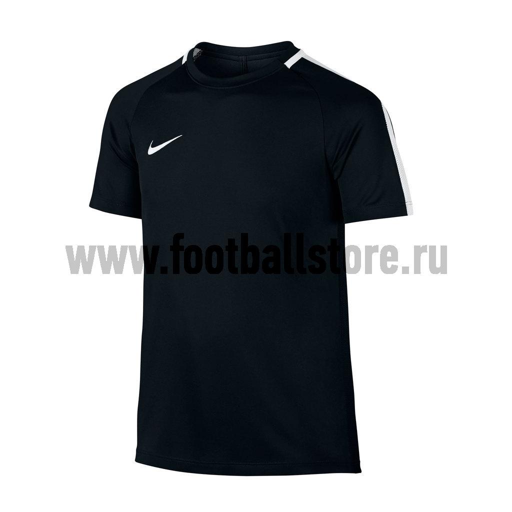 Футболка тренировочная Nike Boys Academy 832969-010 футболка nike drill football top 807245 010 черный 164