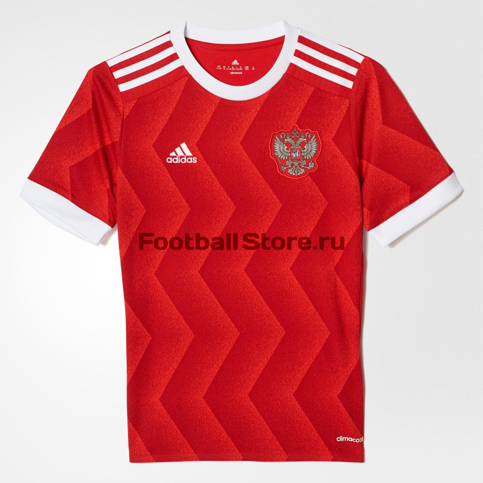 Клубная продукция Adidas Футболка подростковая Adidas Russia Home BR6586