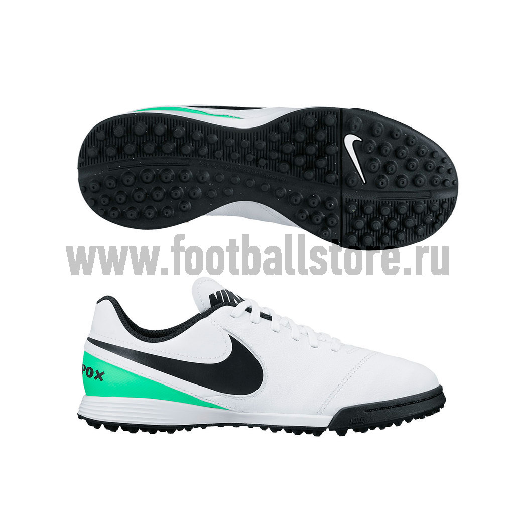 Бутсы Nike Шиповки Nike JR TiempoX Legend VI TF 819191-103 бутсы nike шиповки nike jr tiempox legend vi tf 819191 018