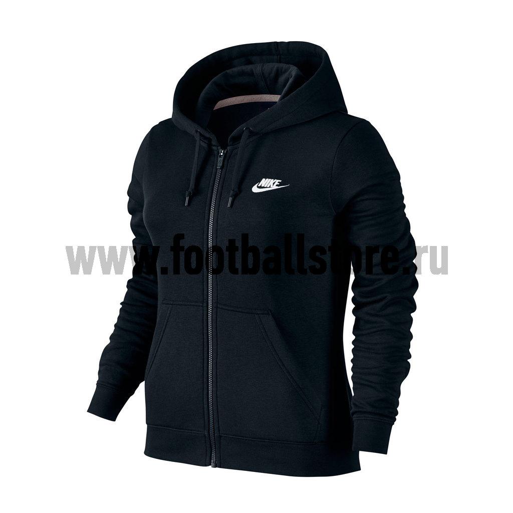 Свитера/Толстовки Nike Толстовка женская Nike W NSW Hoodie FZ FLC 803638-010 толстовки nike толстовка w nsw gym vntg hoodie fz