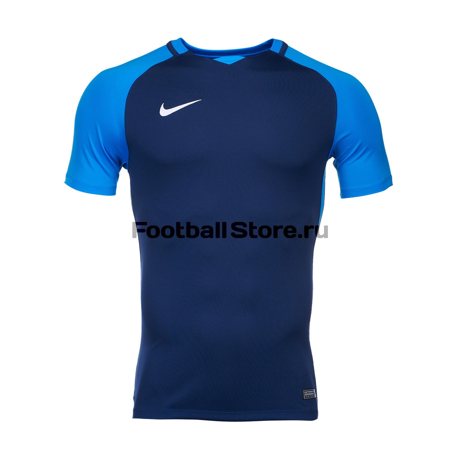 Футболка игровая Nike Trophy III 881483-411 футболка игровая nike dry tiempo prem jsy ss 894230 411