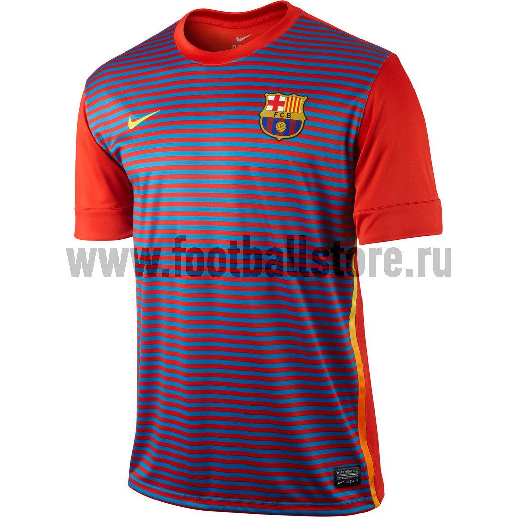 Barcelona Nike Майка тренировочная Nike Barcelona ss prematch 477736-603