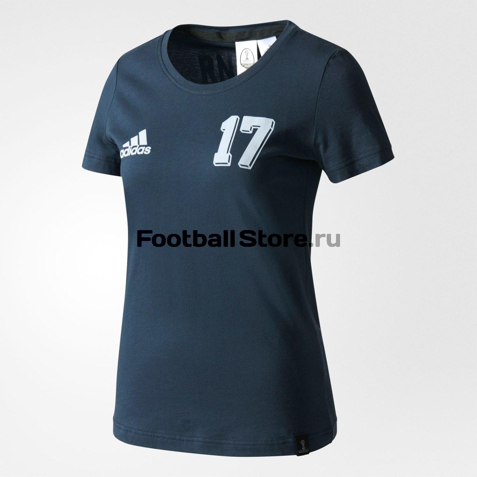 """Футболка женская Adidas """"Россия"""" AZ3790"""
