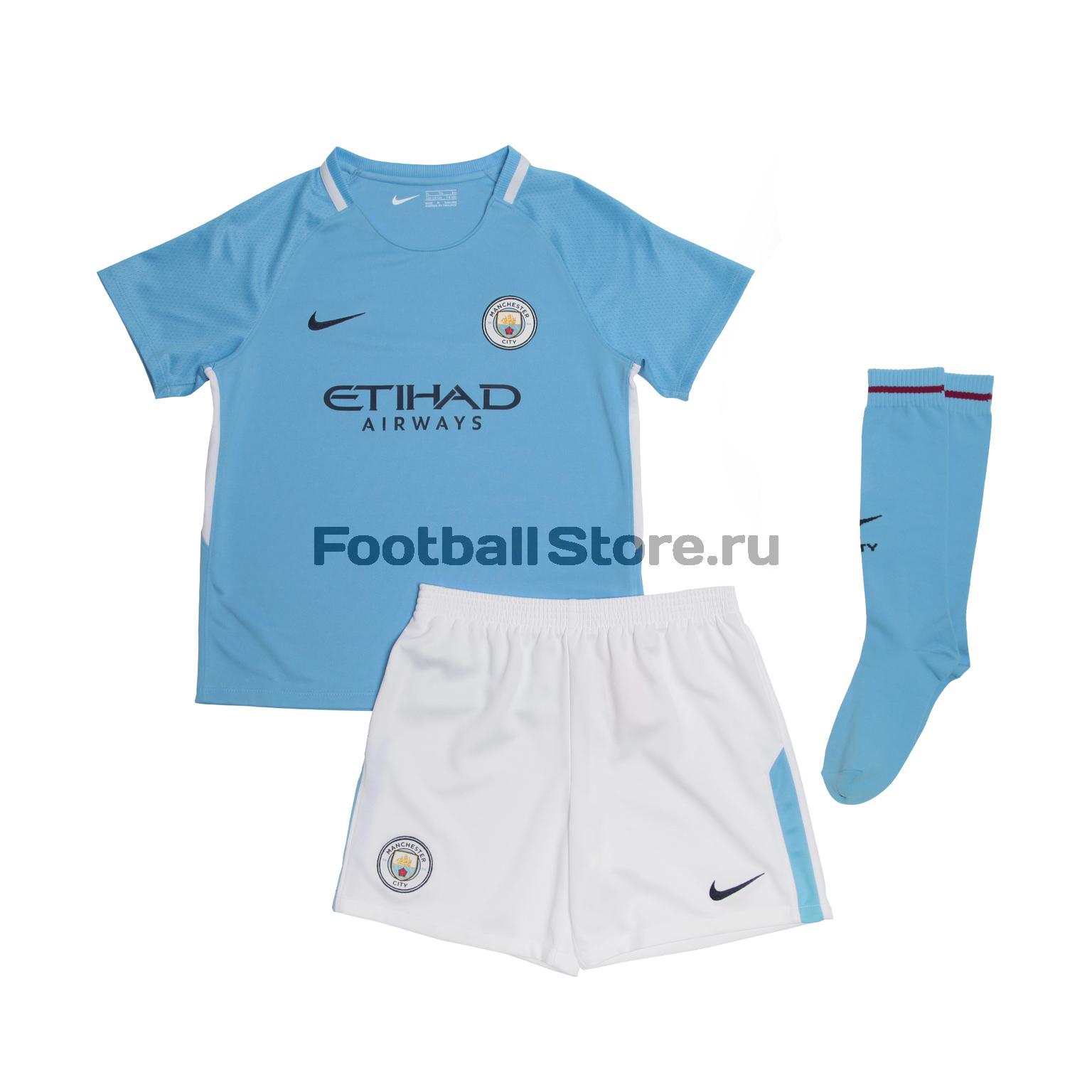 Комплекты формы Nike Комплект детской формы Nike Manchester City 847362-489 manchester city nike оригинальная футболка nike manchester city 847197 489