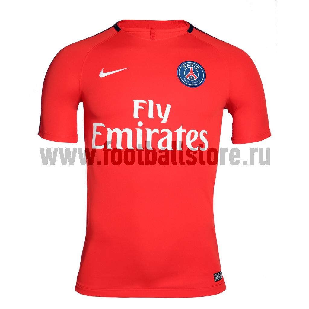 PSG Nike Футболка игровая Nike PSG SQD Top 854607-676 psg nike гетры nike psg stadium sx6033 429