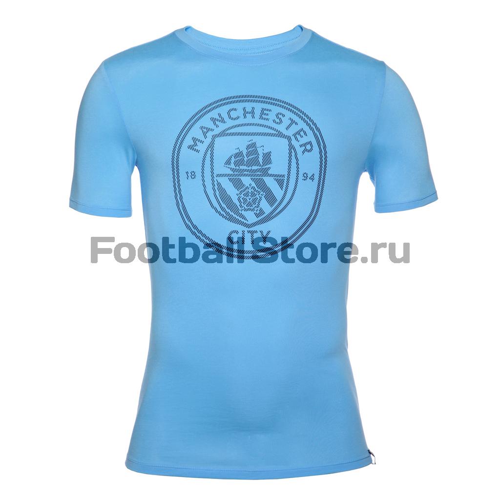 Manchester City Nike Футболка Nike Manchester City Tee Crest 857357-410 manchester city nike оригинальная футболка nike manchester city 847197 489