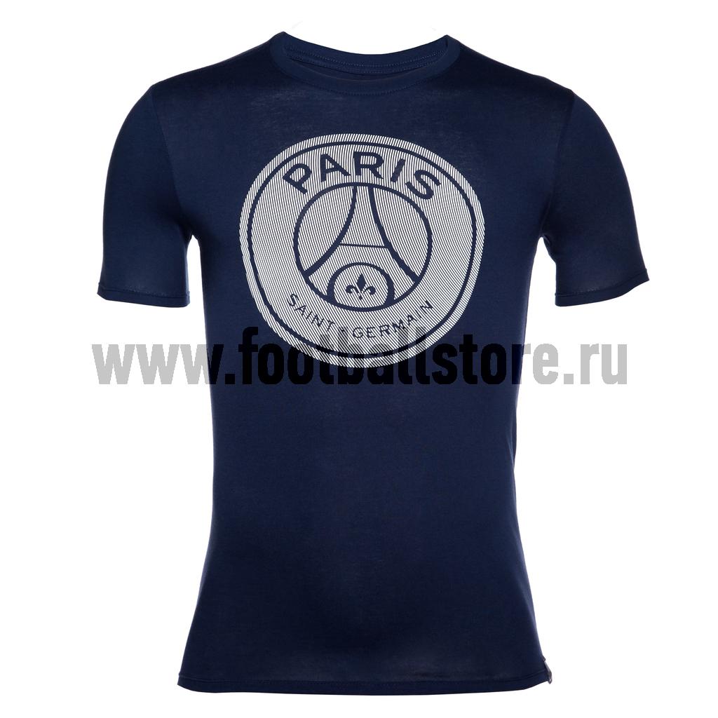 PSG Nike Футболка Nike PSG Tee Crest 857359-410 игровая форма nike футболка детская nike ss precision iii jsy boys 645918 410