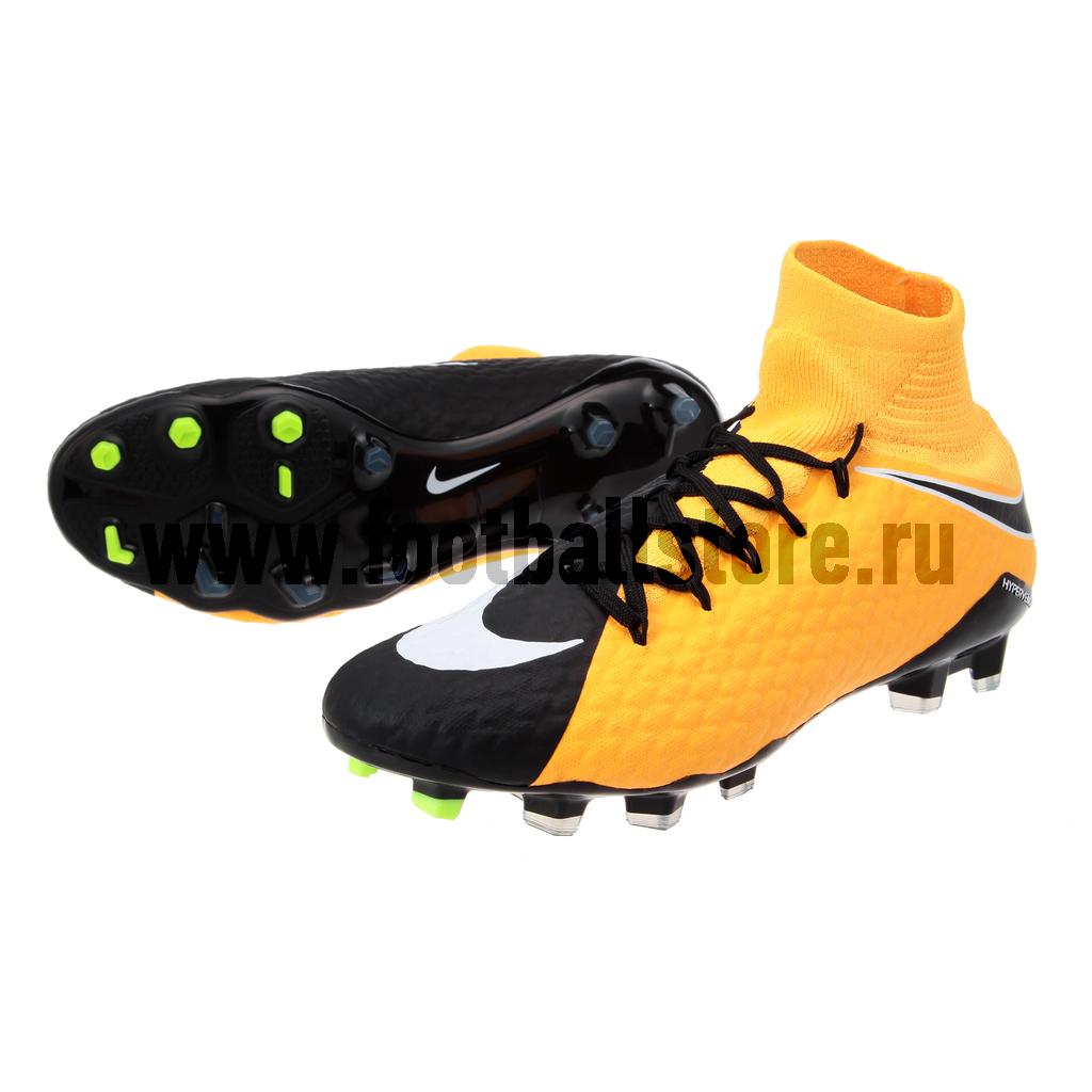 Игровые бутсы Nike Бутсы Nike Hypervenom Phatal III DF FG 852554-801 игровые бутсы nike бутсы nike mercurial superfly v df fg 831940 801