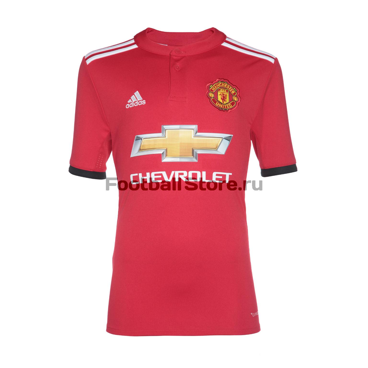 Клубная продукция Adidas Футболка подростковая Adidas Manchester United Home AZ7584