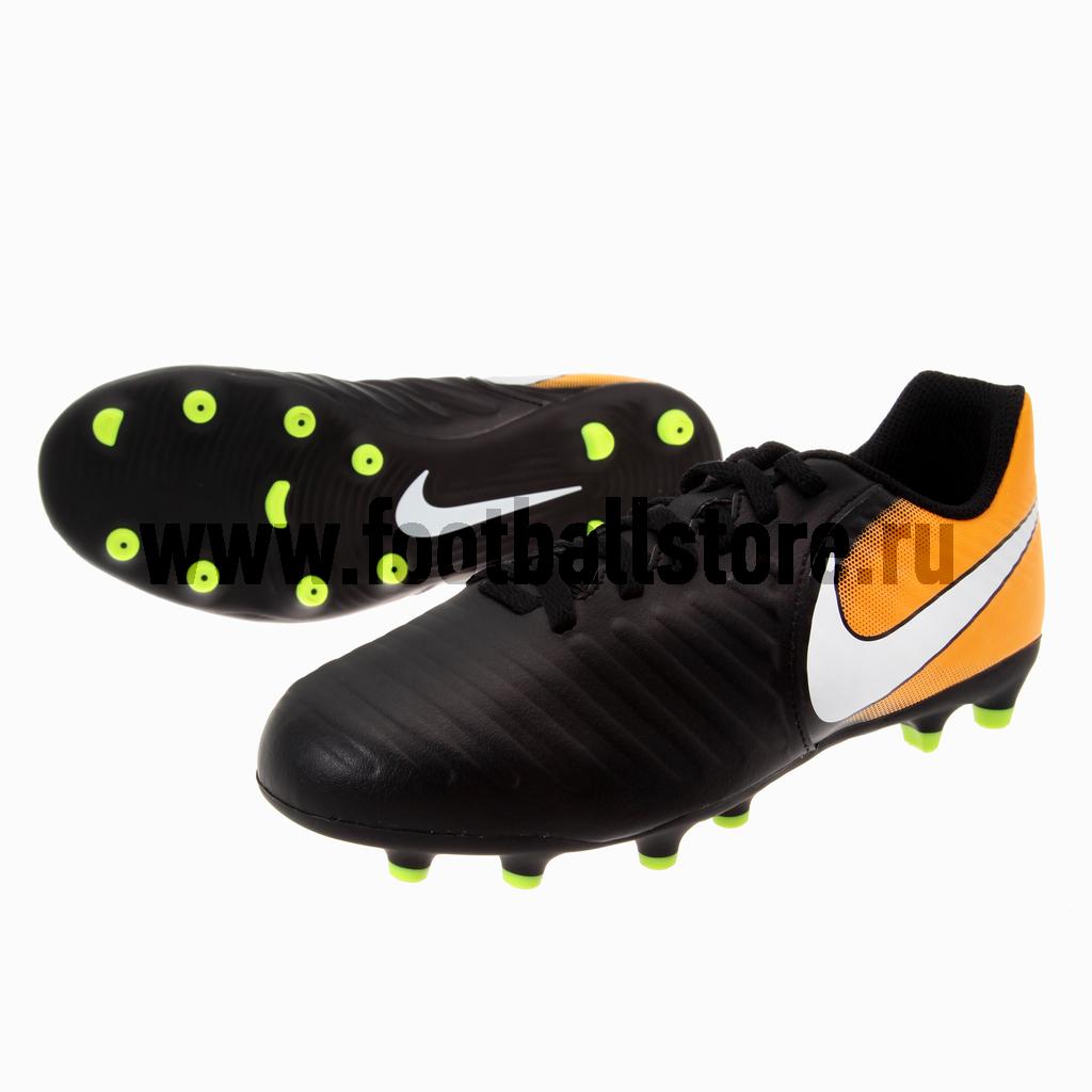 Бутсы Nike Бутсы Nike JR Tiempo Rio IV FG 897731-008 nike бутсы nike tiempo flight sg 453958 013