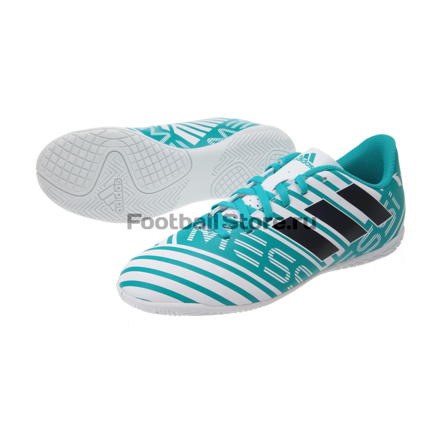 Бутсы Adidas Обувь для зала Adidas Nemeziz Messi 17.4 IN JR S77208 бутсы adidas бутсы для зала дет спорт messi 16 3 in j
