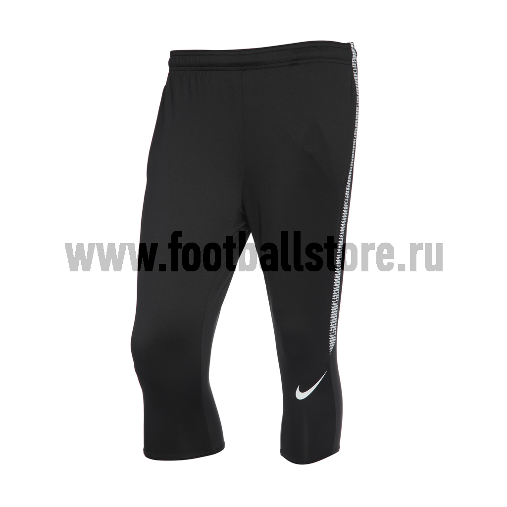 Брюки тренировочные 3/4 Nike Dry Sqd Pant 859232-010 брюки тренировочные nike sqd wtr ah3175 010