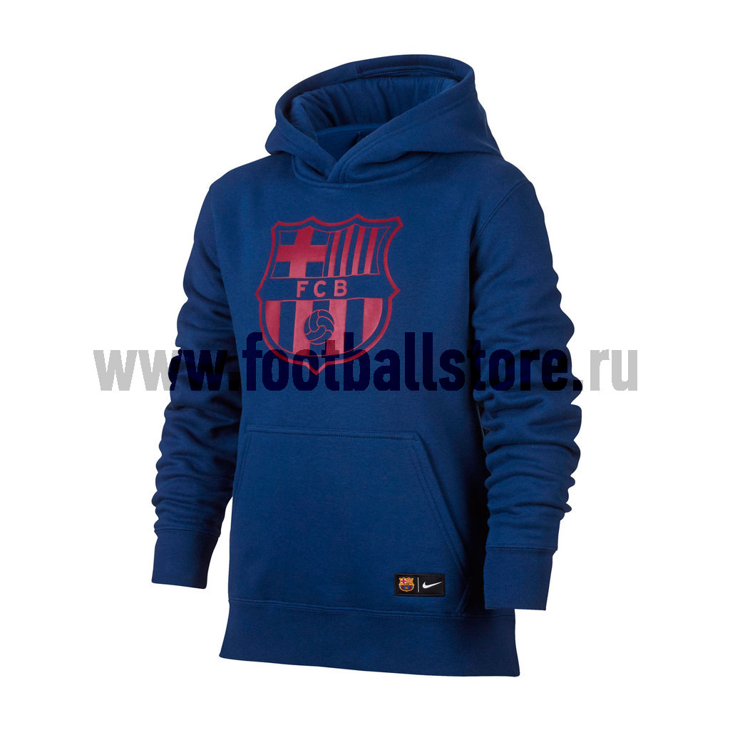 Клубная продукция Nike Толстовка подростковая Nike Barcelona Hoodie 886662-455 tryp barcelona condal mar hotel 4 барселона
