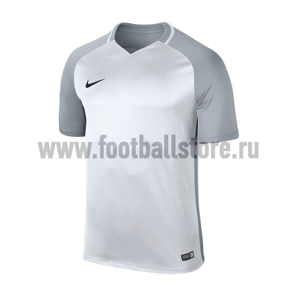 Футболка игровая подростковая Nike Trophy III 881484-100 футболка игровая nike dry tiempo prem jsy ss 894230 411