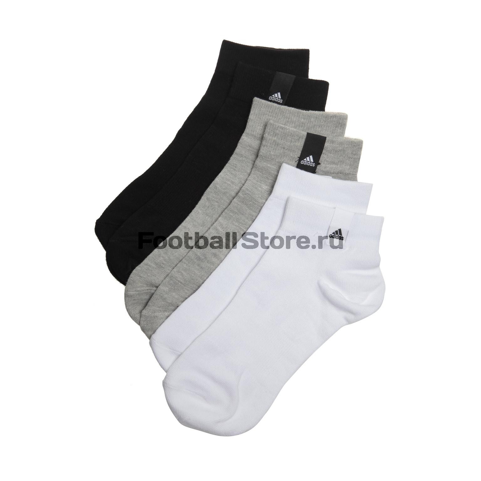 Комплект носков Adidas Label Thin Ankle 3-Pack AA2485 носки adidas носки per la ankle 3p