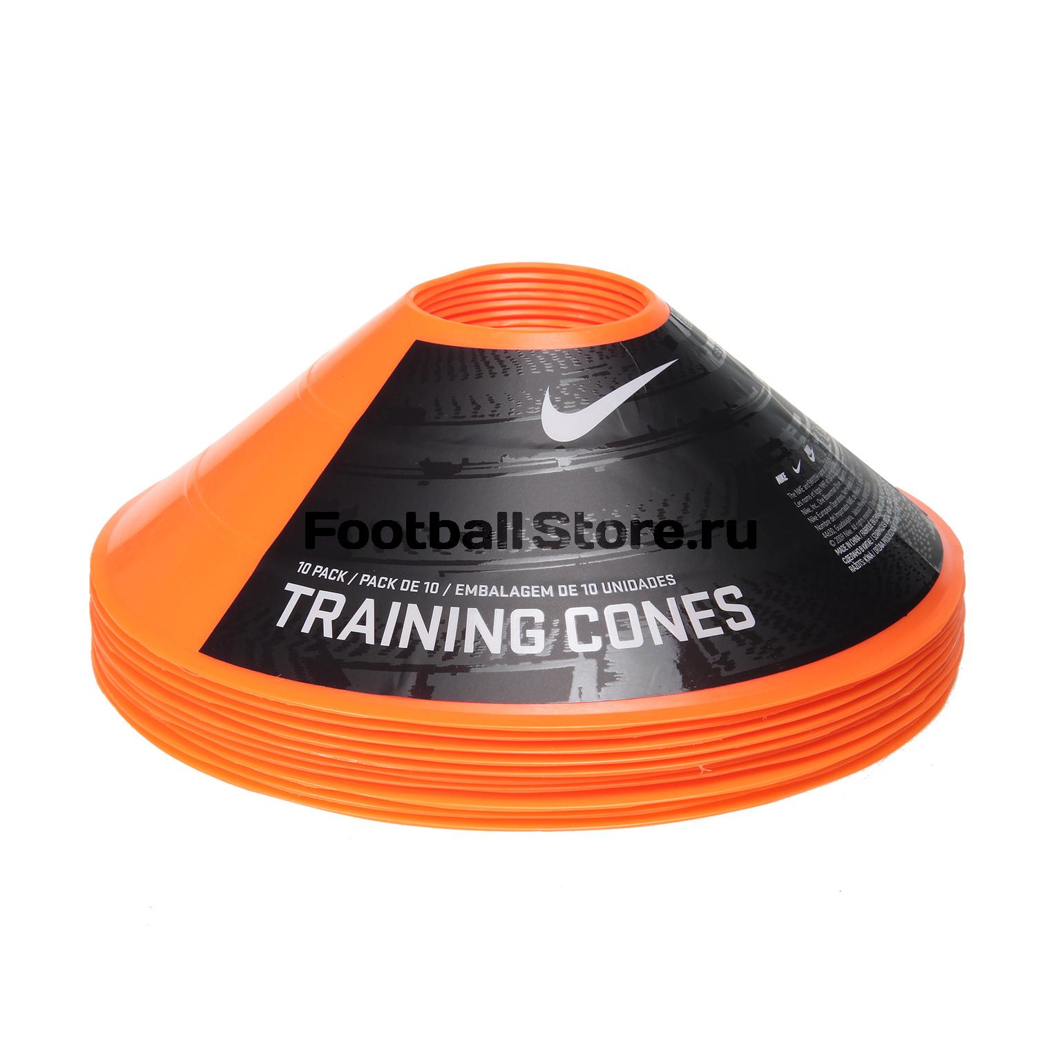Конусы тренировочные Nike 10 Pack Orange N.SR.08.888.NS скакалка nike speed rope 2 0 ns hyper n er 10 695 ns