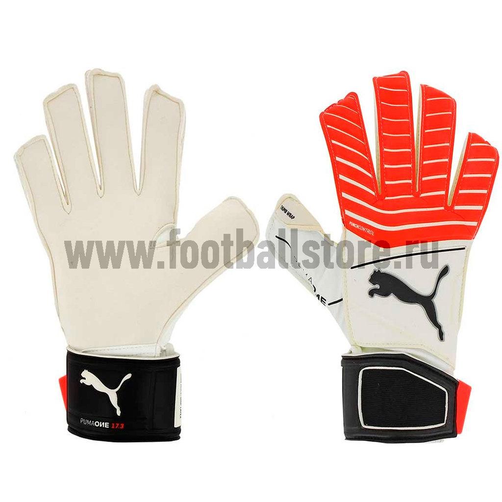 Перчатки Puma Перчатки вратарские Puma One Grip 17.3 RC 04133501 перчатки puma перчатки вратарские puma evopower grip 2 3 04122220