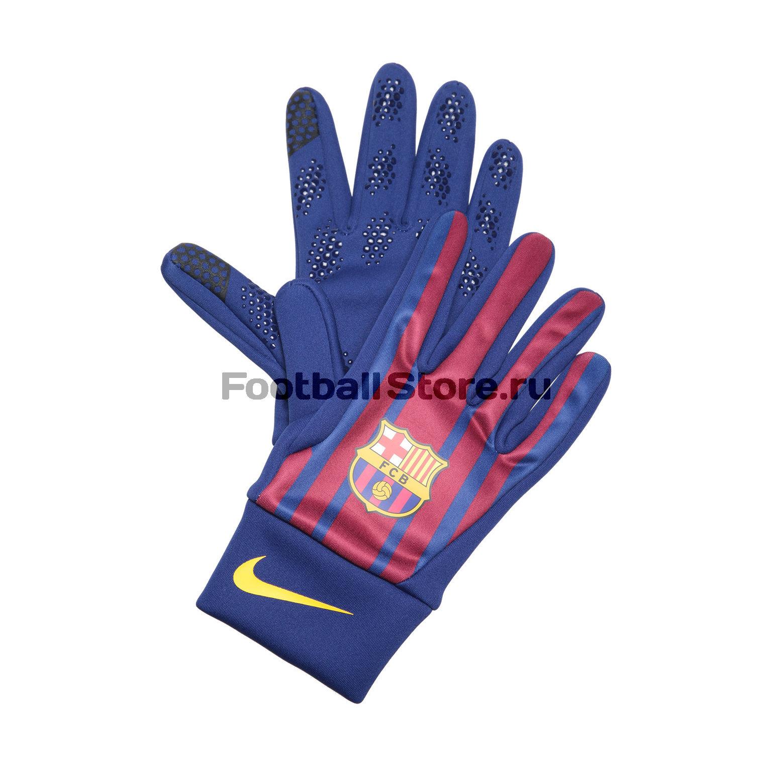 Перчатки тренировочные Nike Barcelona Home GS0354-485 barcelona nike брюки тренировочные nike barcelona aa1935 036