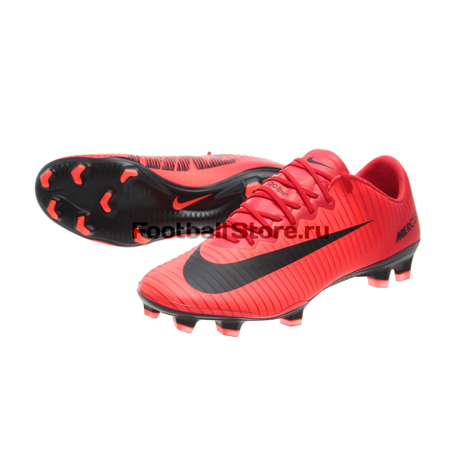 Игровые бутсы Nike Бутсы Nike Mercurial Vapor XI FG 831958-616 спортинвентарь nike чехол для iphone 6 на руку nike vapor flash arm band 2 0 n rn 50 078 os