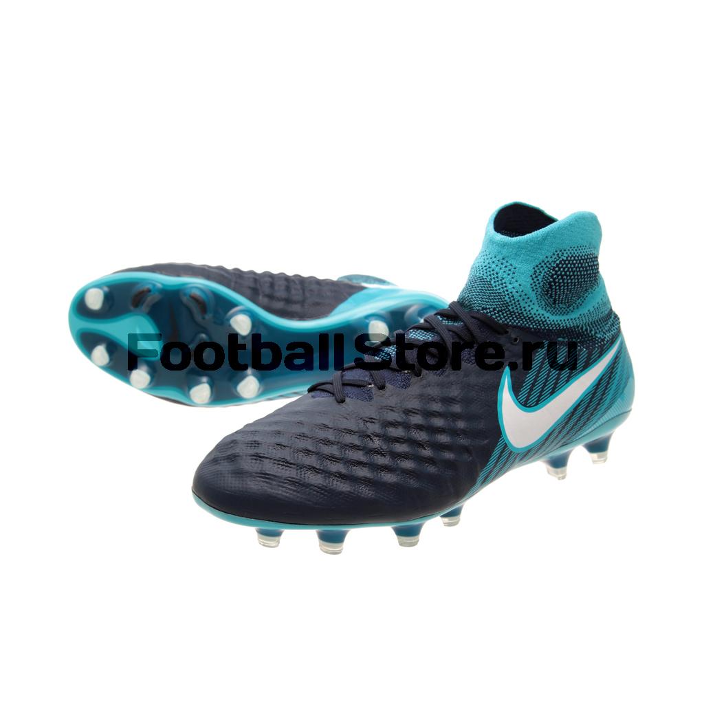 Бутсы Nike Magista Obra II FG 844595-414 бутсы футбольные nike obra ii academy df fg ah7313 080 jr детские т сер оранж