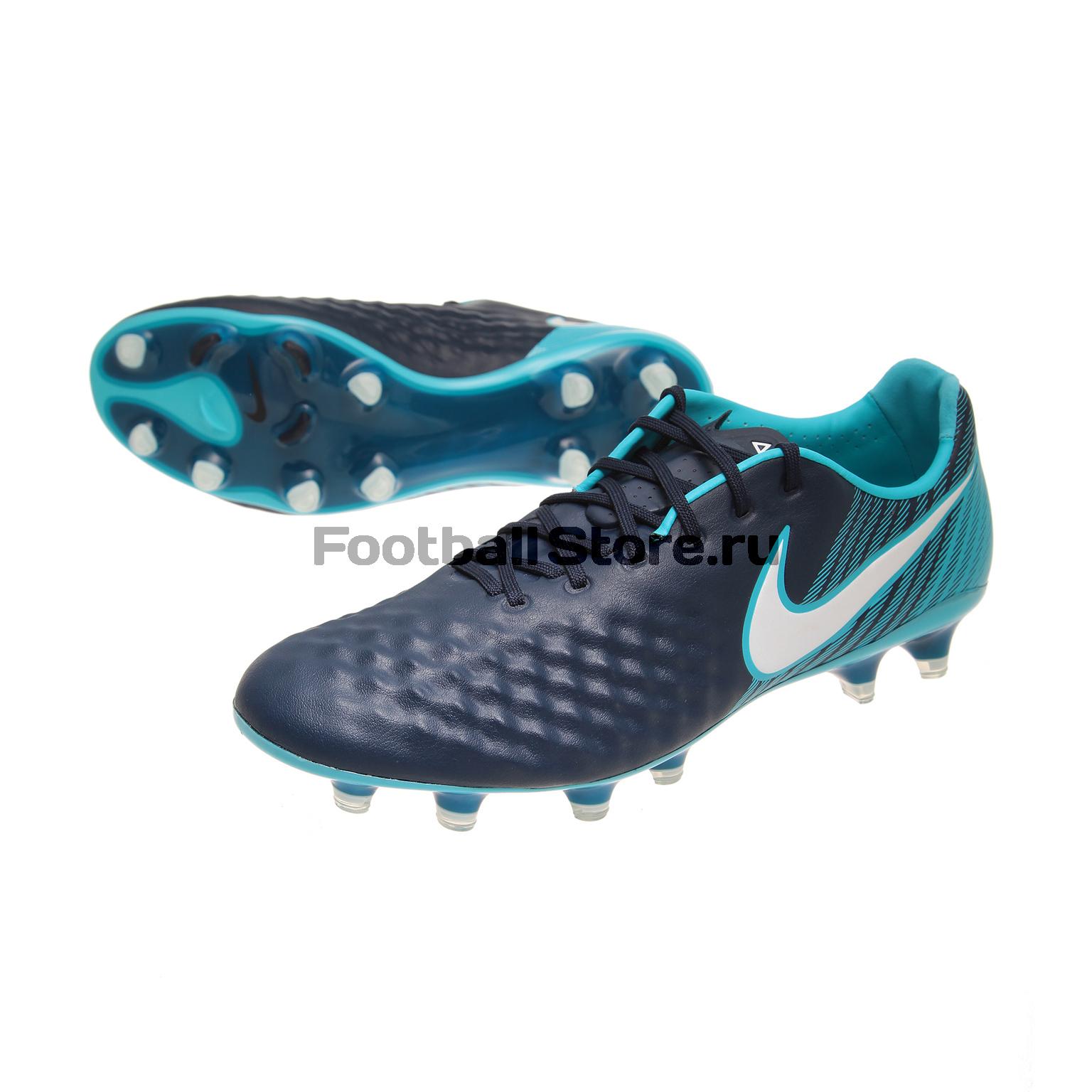 Бутсы Nike Magista Opus II FG 843813-414 nike бутсы nike magista obra ii fg 844595 008