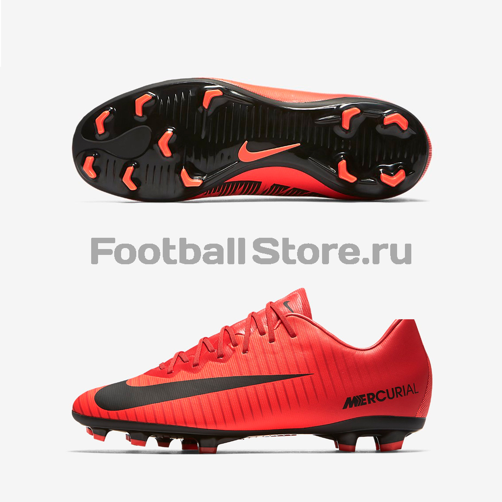 Детские бутсы Nike Бутсы Nike JR Mercurial Vapor XI FG 903594-616 спортинвентарь nike чехол для iphone 6 на руку nike vapor flash arm band 2 0 n rn 50 078 os