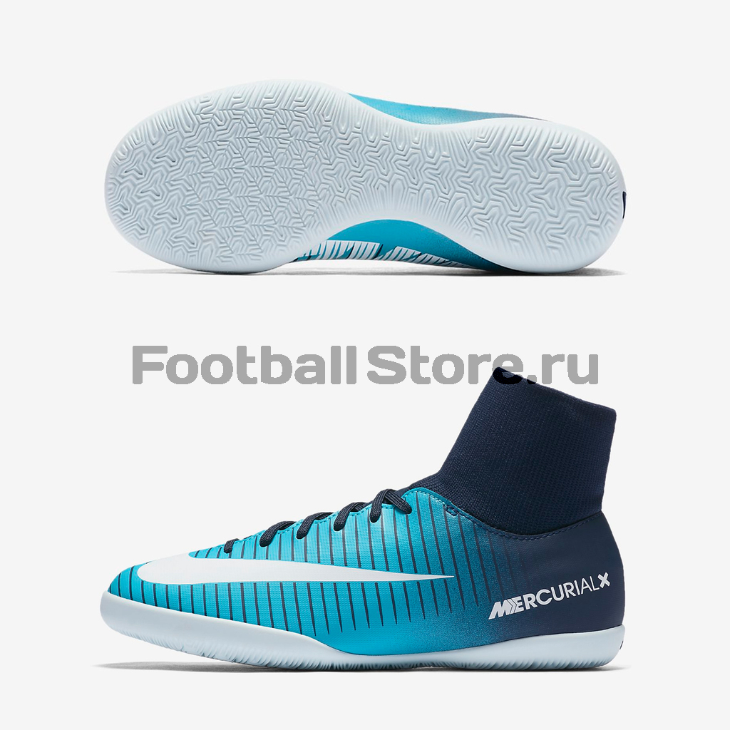 Обувь для зала Nike JR MercurialX Victory 6 DF IC 903599-404 бутсы nike бутсы jr mercurialx vapor xi ic