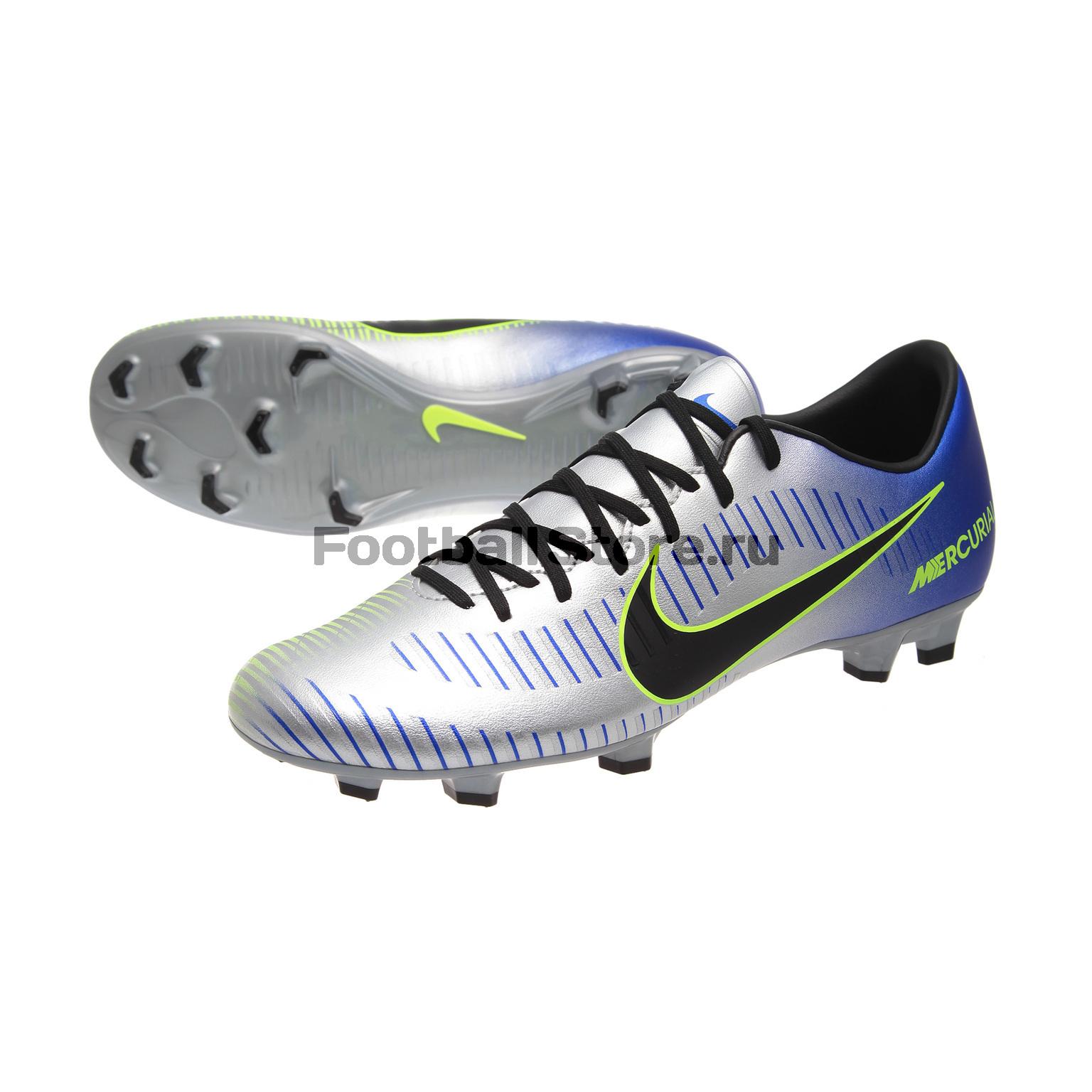 Бутсы Nike Mercurial Victory VI Neymar FG 921509-407 бутсы футбольные nike mercurial victory vi njr fg 921488 407 jr детские