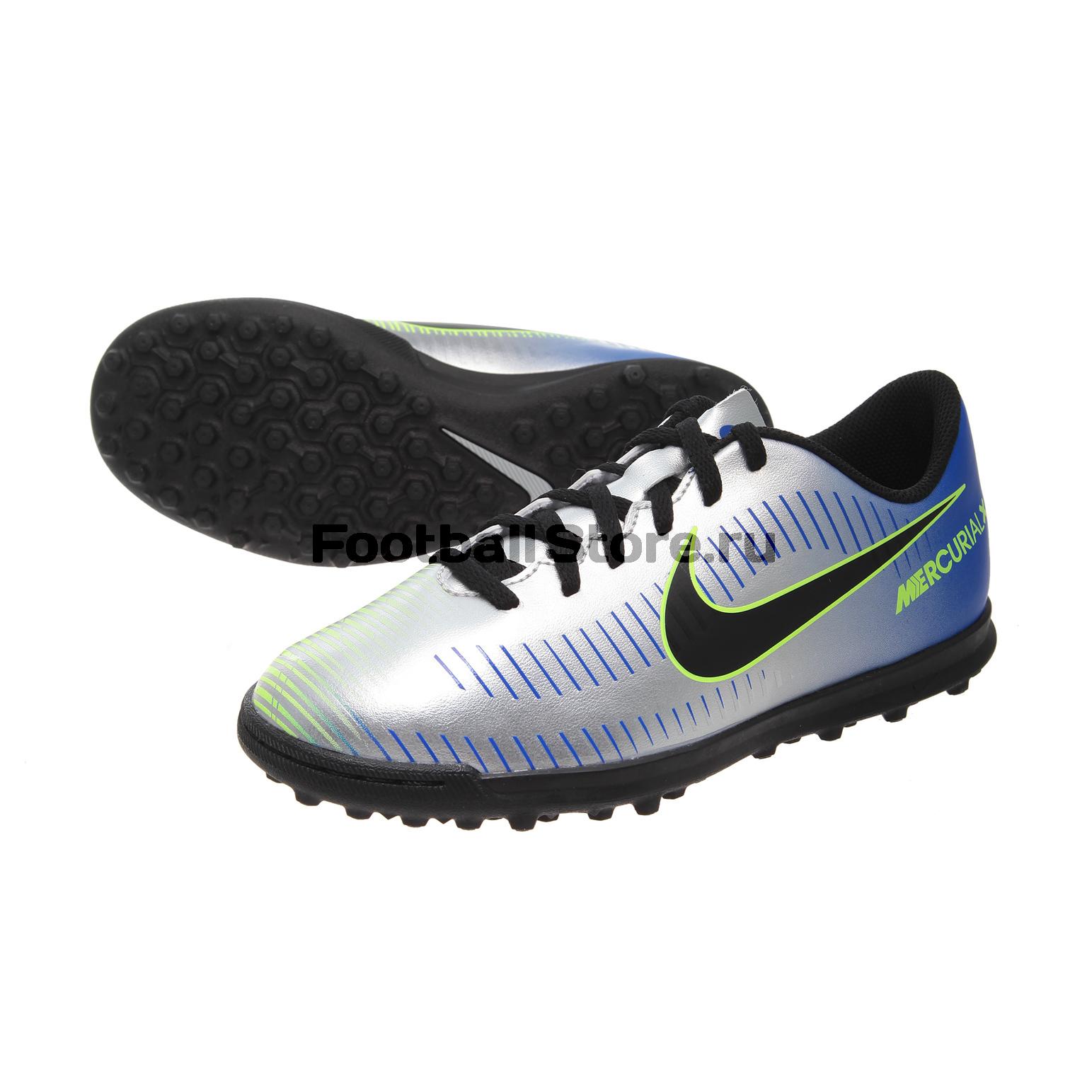 Детские бутсы Nike Шиповки Nike JR Mercurial X Vortex Neymar TF 921497-407 nike nike mercurial lite