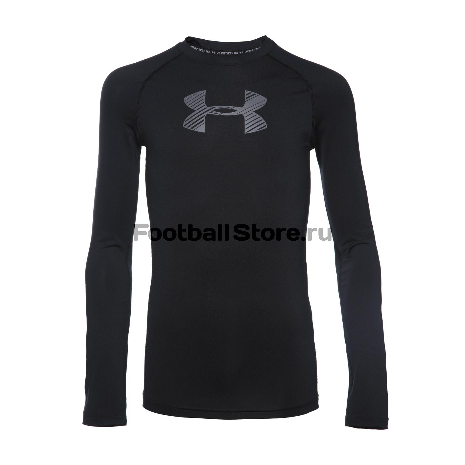 Белье футболка подростковая Under Armour LS 1289959-001 футболка спортивная under armour under armour un001emxrw34