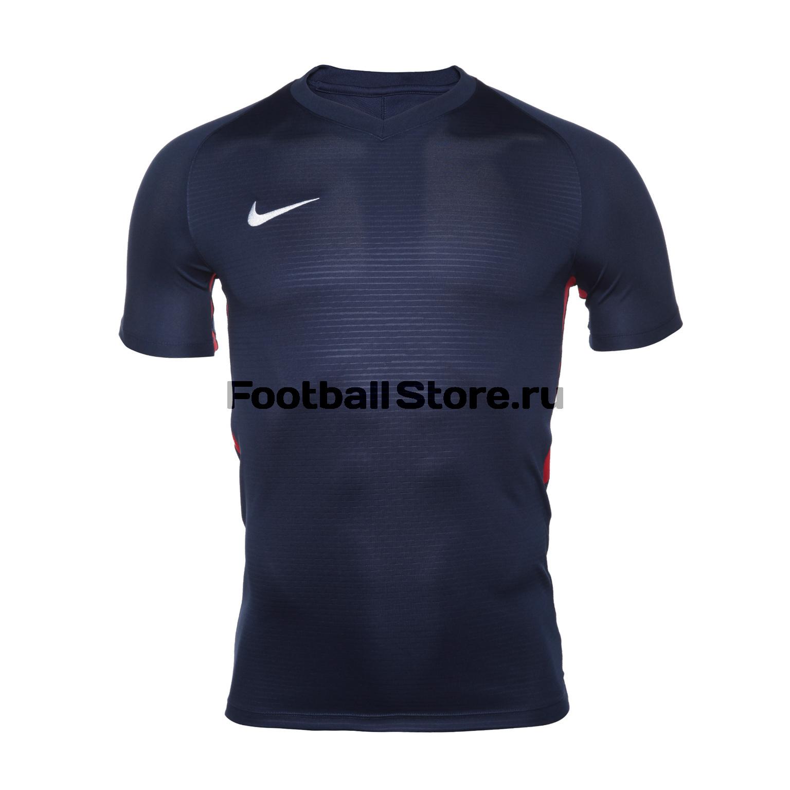 Футболка игровая Nike Dry Tiempo Prem JSY SS 894230-410 футболка игровая nike dry tiempo prem jsy ss 894230 662