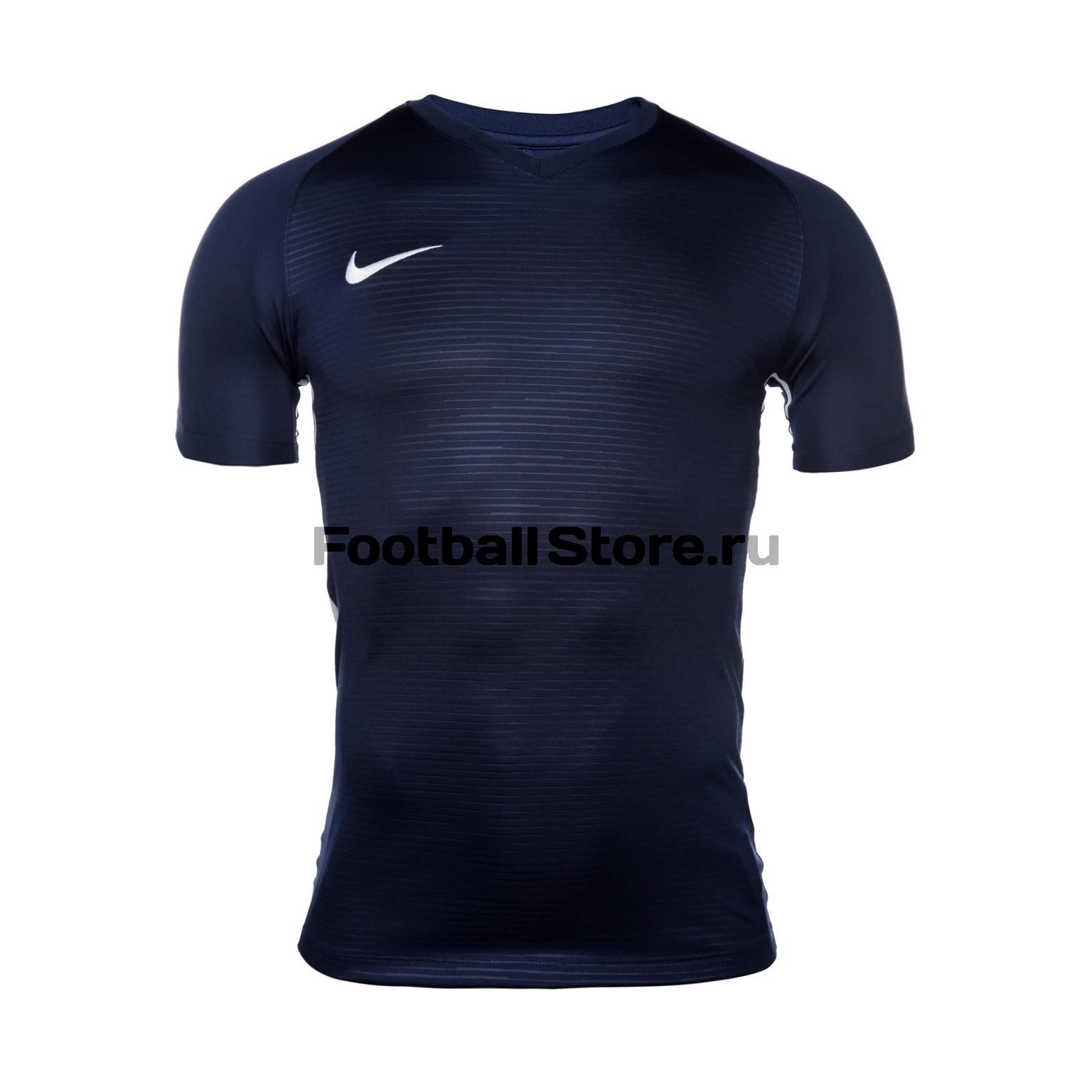 Футболка игровая Nike Dry Tiempo Prem JSY SS 894230-411 футболки nike футболка игровая nike ss revolution iv jsy 833017 010