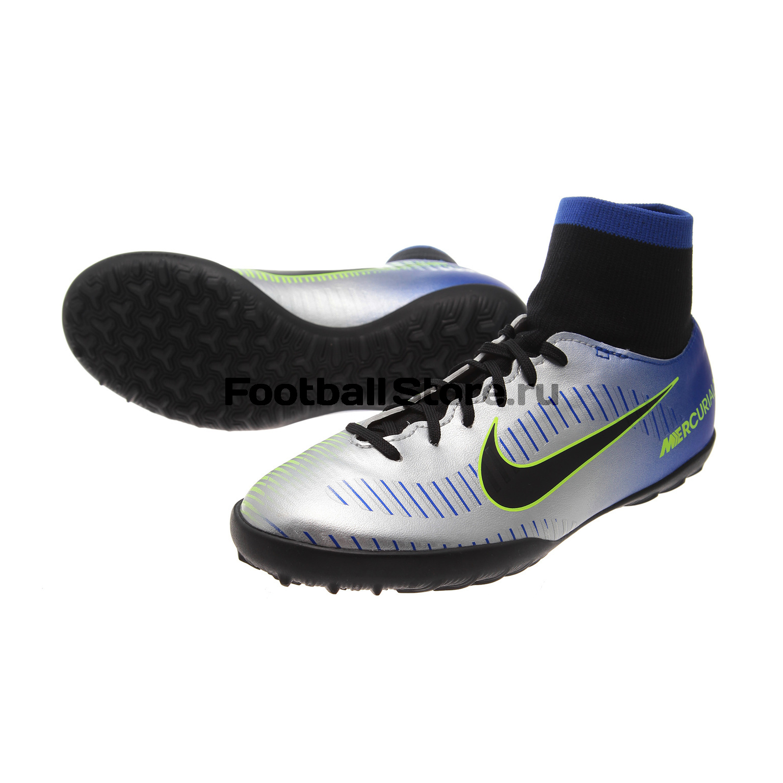 Шиповки детские Nike Mercurial X Victory DF Neymar TF 921492-407 original new arrival nike mercurial victory v tf men s light comfortable soccer shoes football sneakers