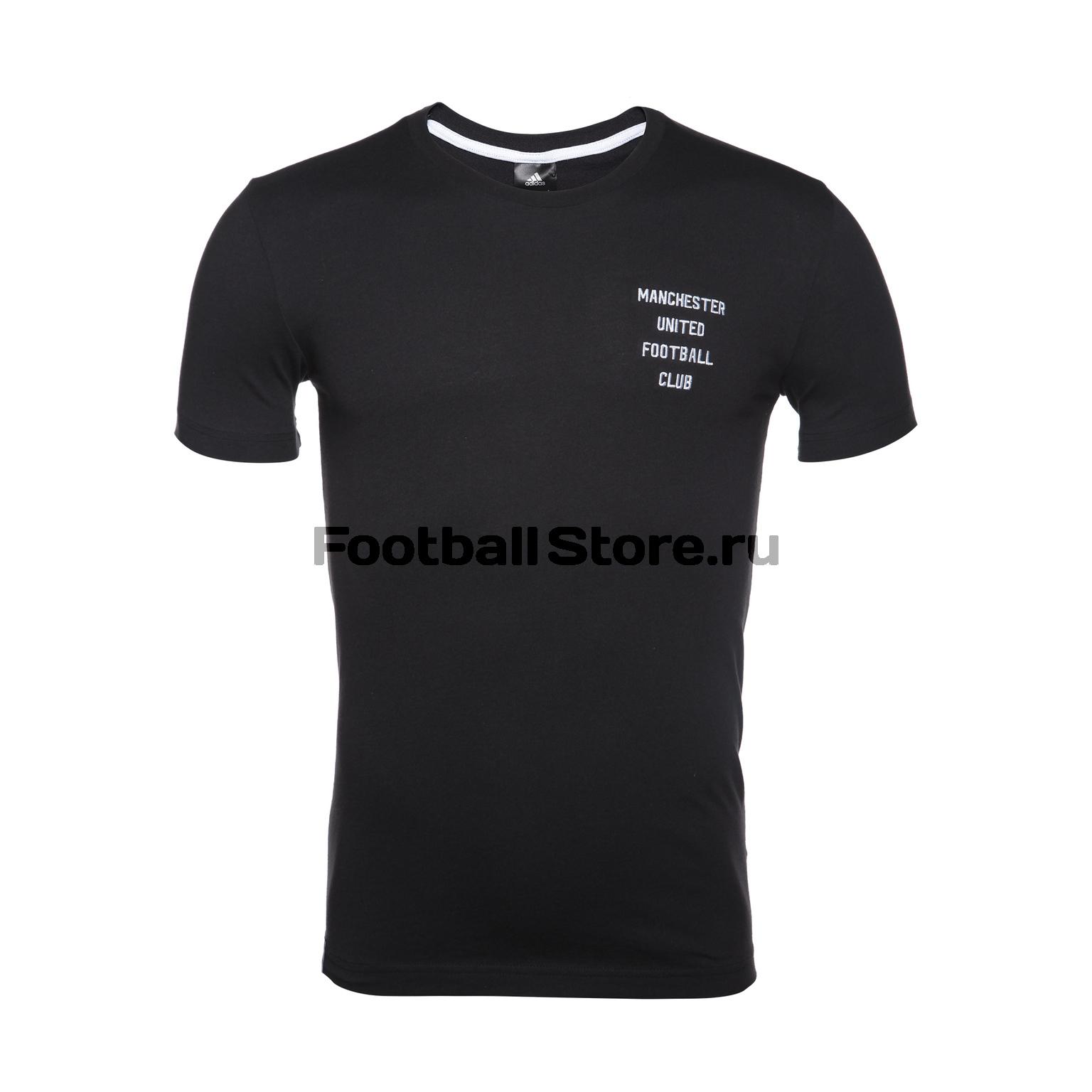 Футболка тренировочная Adidas Manchester United Tee CF2338 футболка тренировочная adidas tiro17 tee ay2964