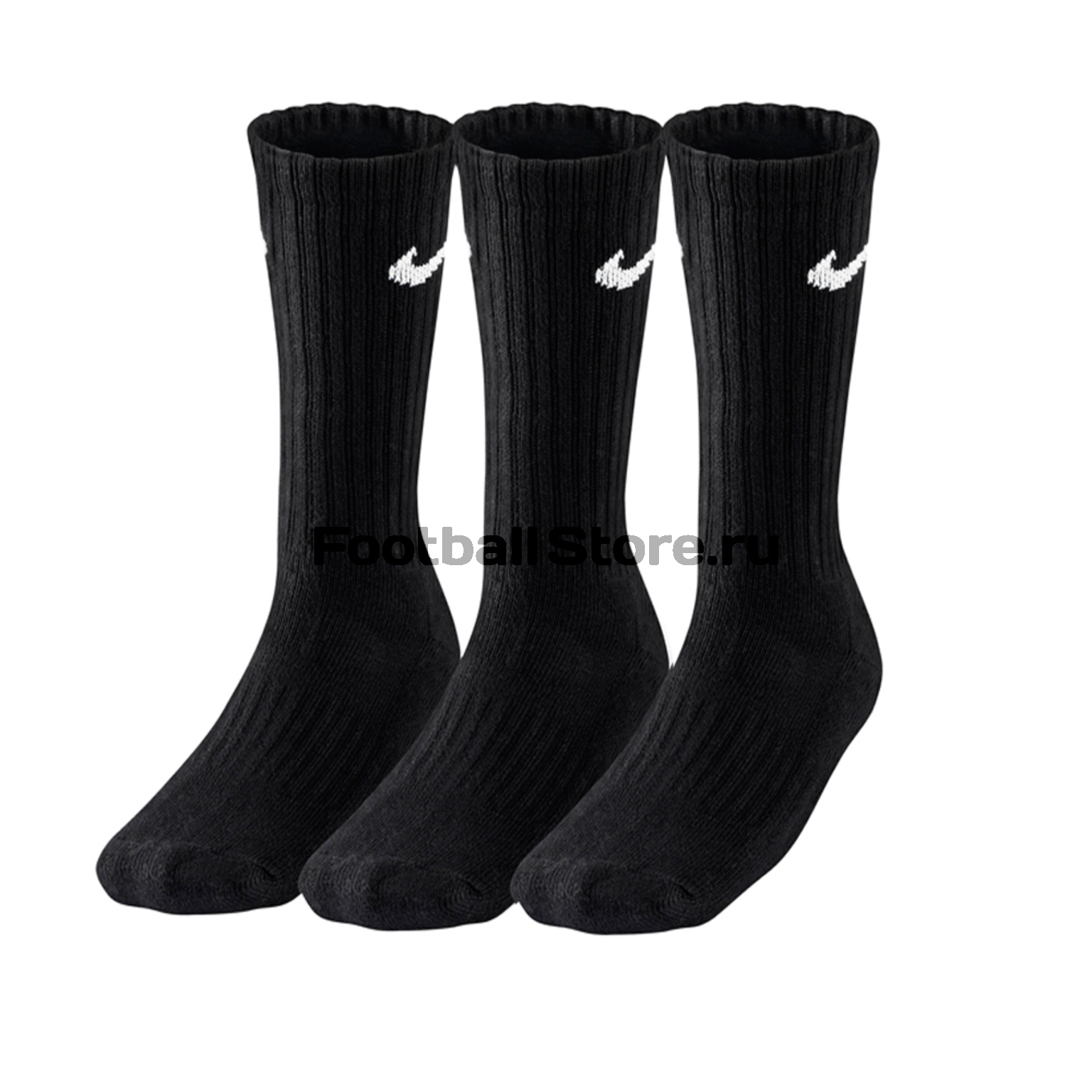 Комплект носков Nike 3ppk Value Cotton Crew SX4508-001 комплект носков nike 3ppk cushion quarter sx4703 901