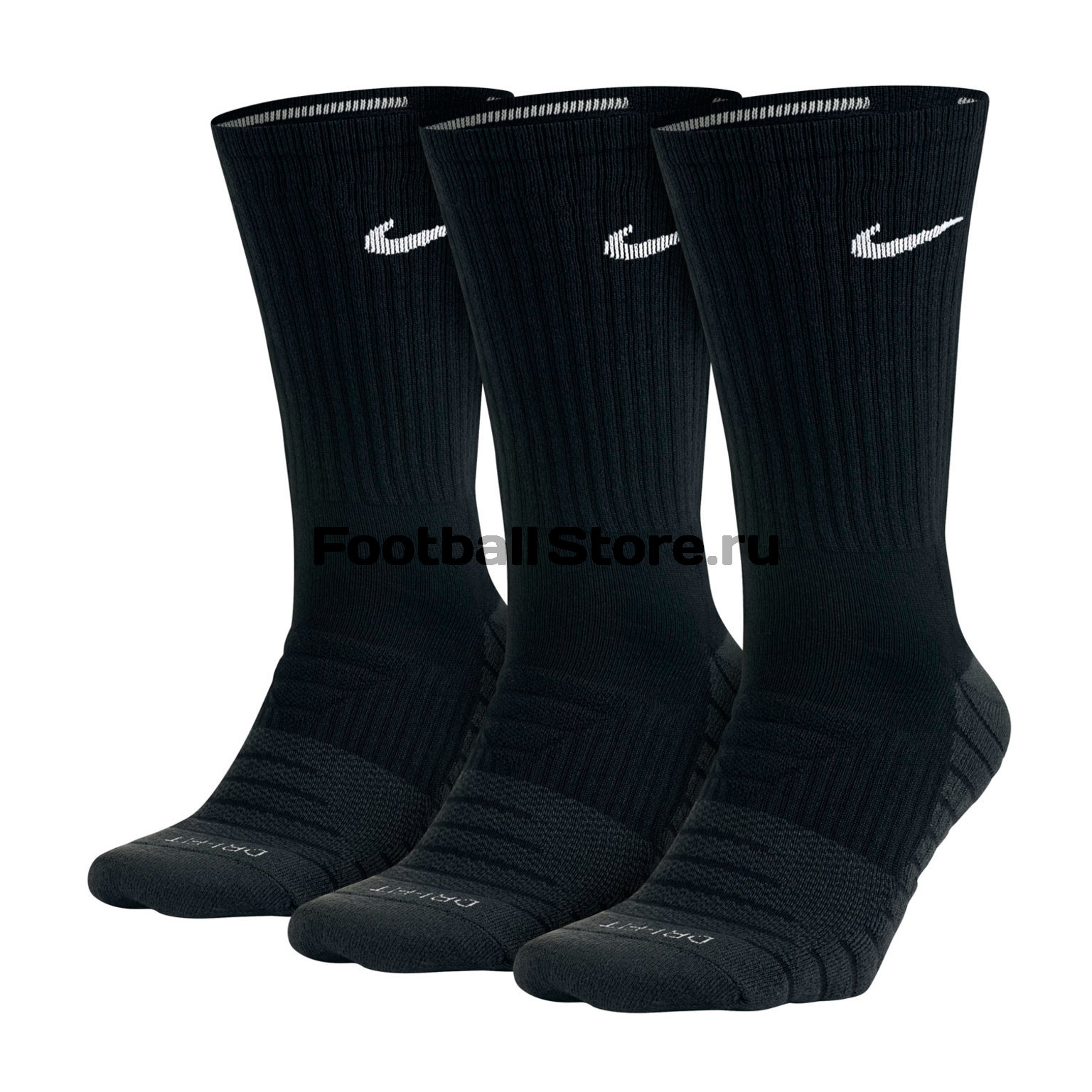 Комплект носков Nike 3PPK Dri-Fit Cushion Crew SX5547-010 комплект носков nike 3ppk cushion quarter sx4703 901