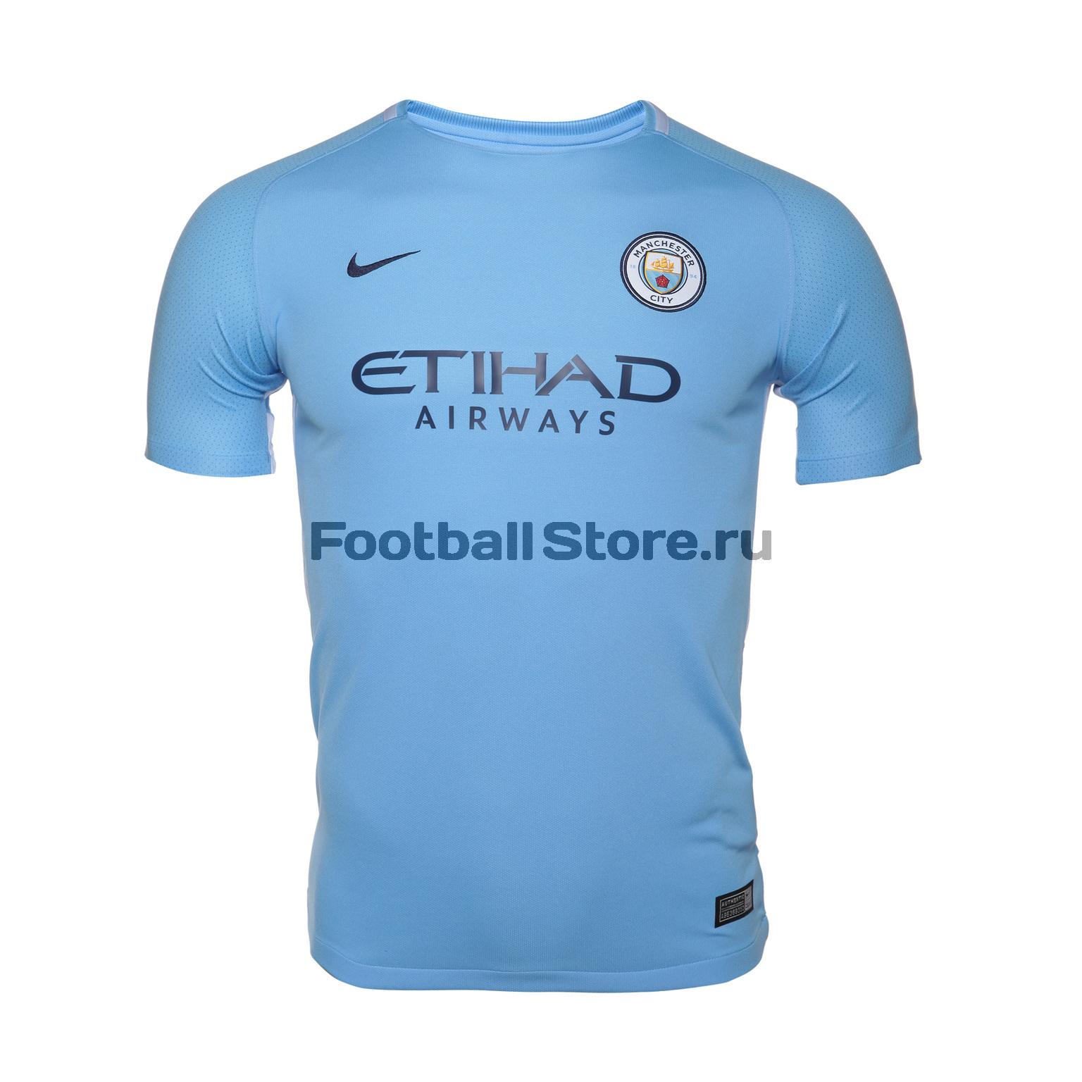 Клубная продукция Nike Футболка подростковая Nike Manchester City Stadium Home 847403-489