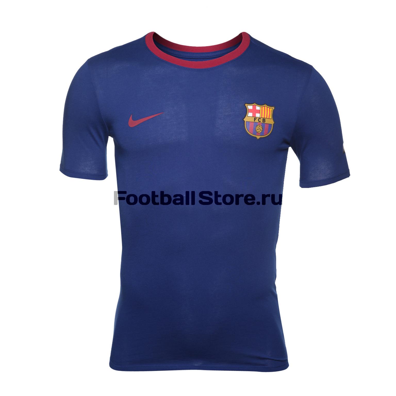 Футболка Nike Barcelona Tee Crest 888801-455