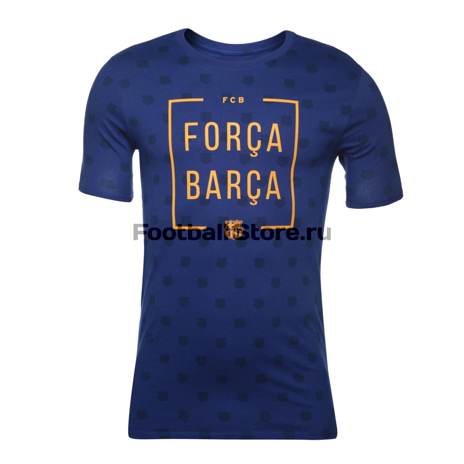 Футболка Nike Barcelona Tee Squad 913403-455 barcelona nike брюки тренировочные nike barcelona aa1935 036