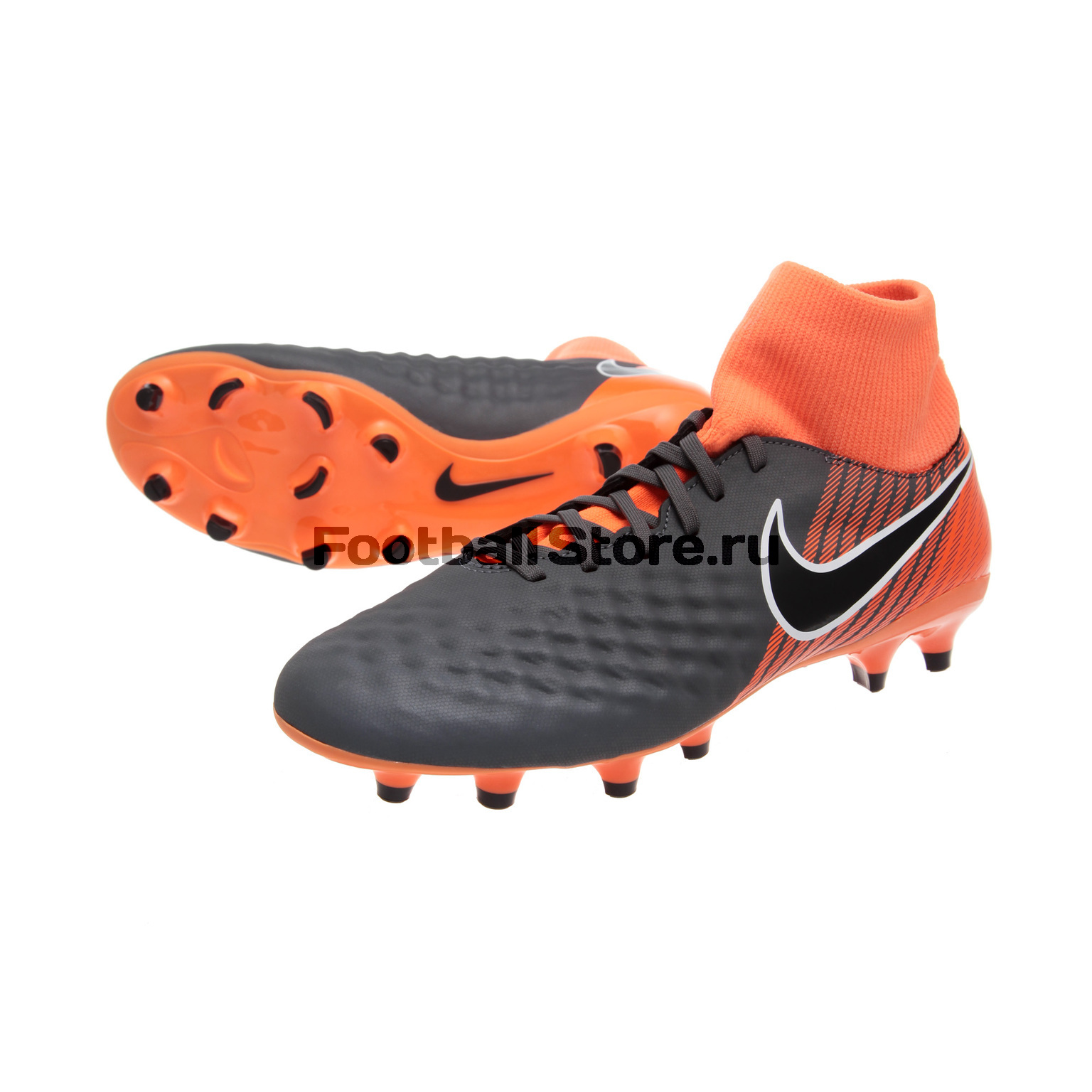 Бутсы Nike Obra 2 Academy DF FG AH7303-080 бутсы nike superfly academy gs cr7 jr fg mg aj3111 390