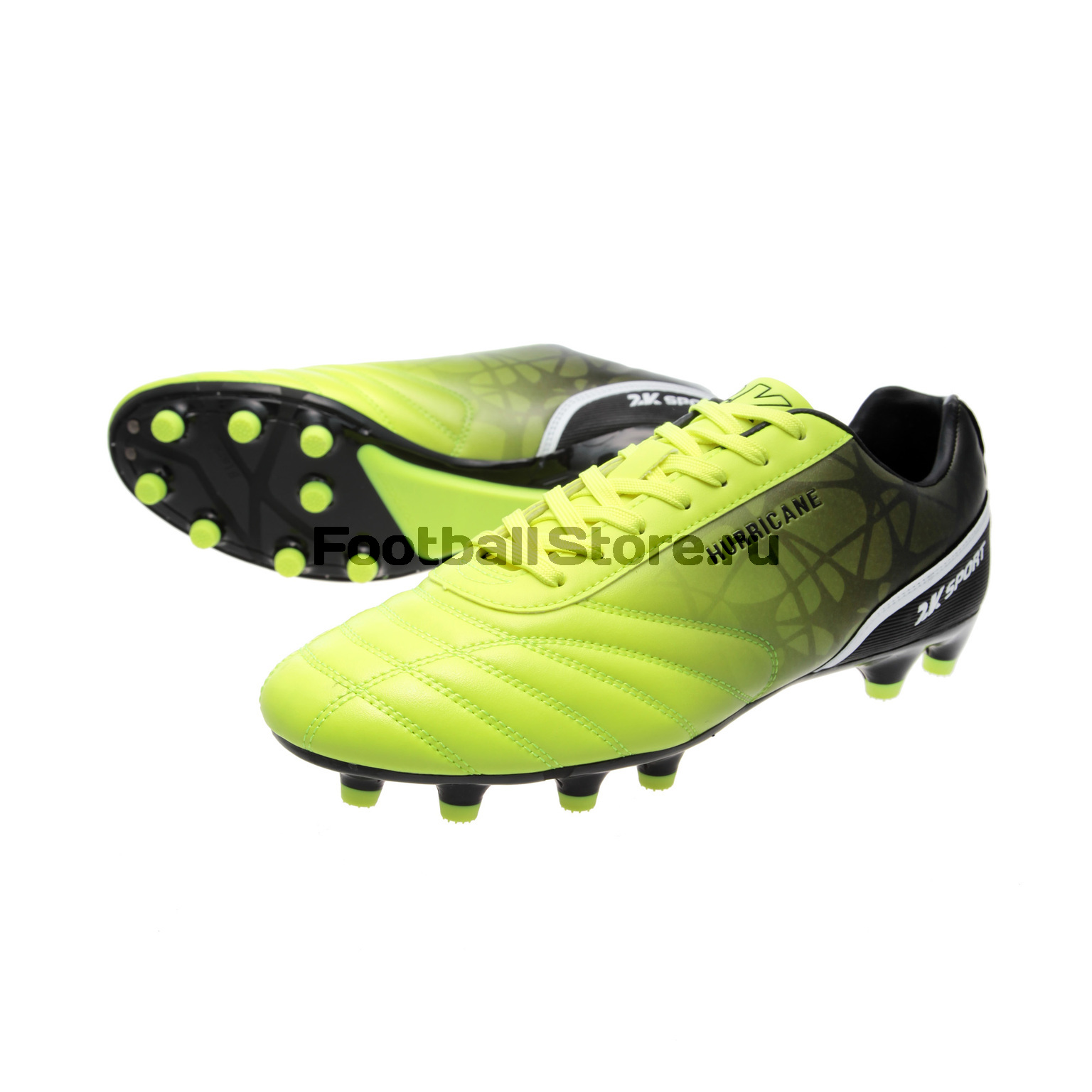 Бутсы 2K Sport Hurricane FG Lime/Black 125326