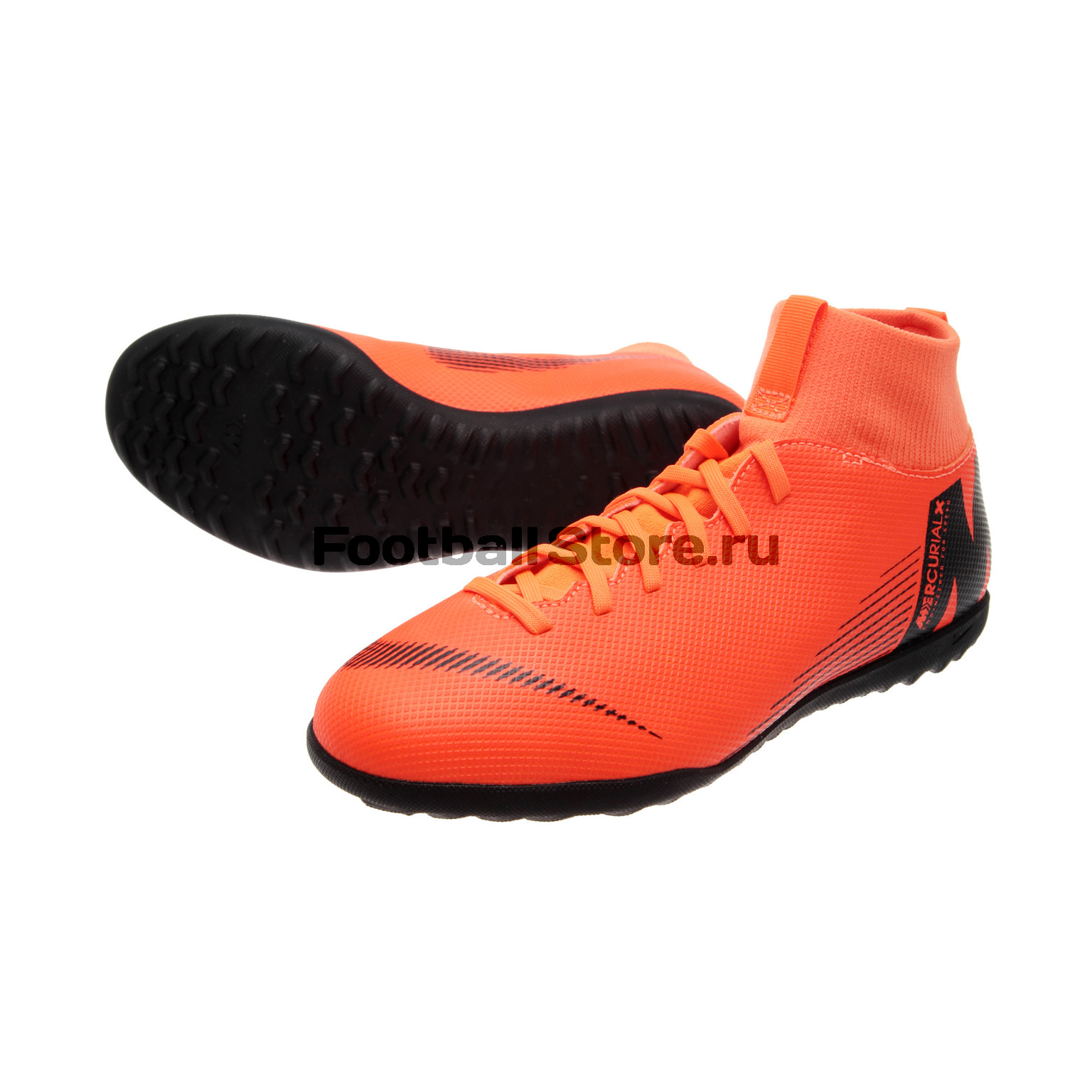 Шиповки Nike JR SuperflyX 6 Club TF AH7345-810 шиповки nike шиповки nike hypervenomx proximo ii df tf 852576 801