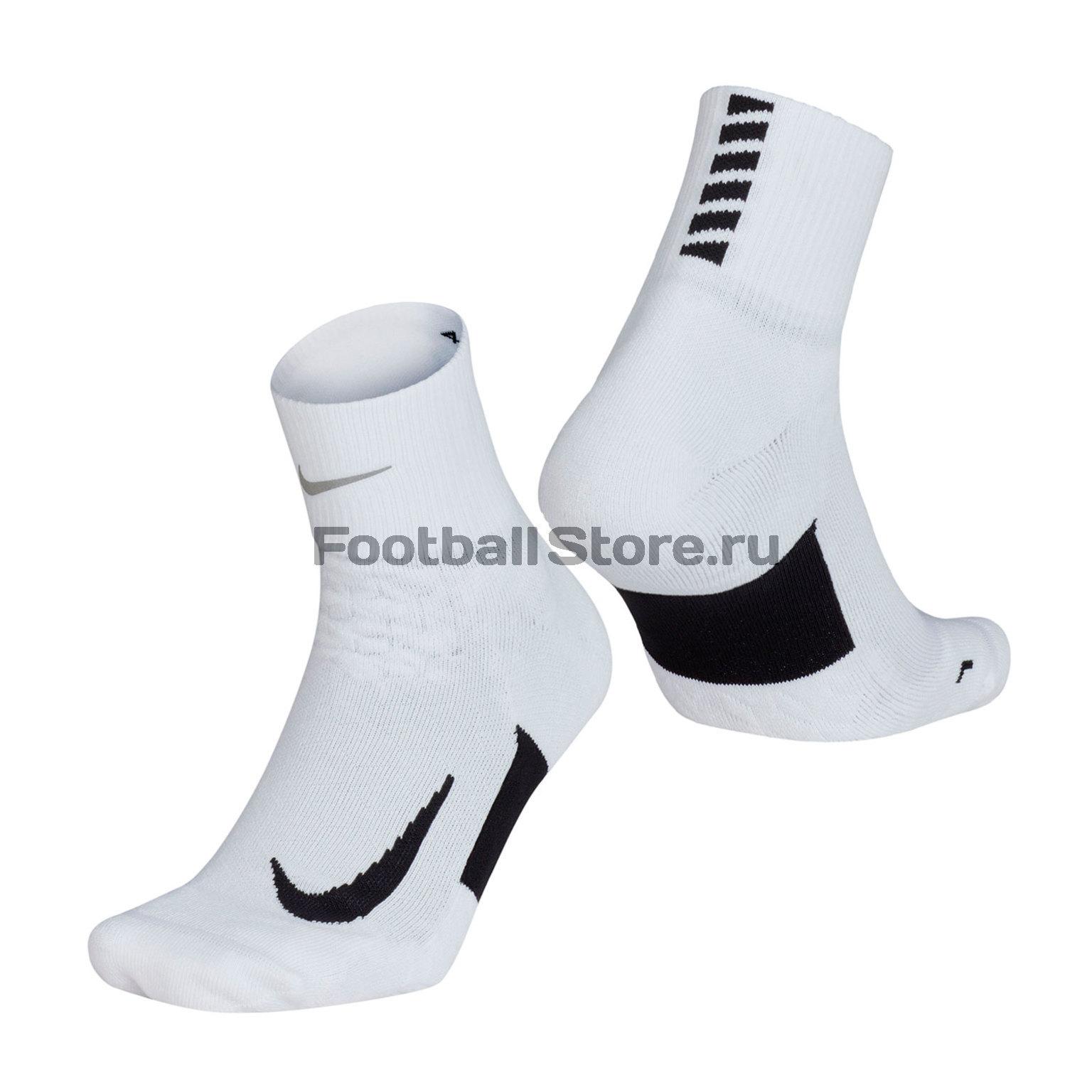 Носки Nike Elite Cushion Quarter Running Sock SX5463-101 носки беговые nike elite running cushion crw page 4