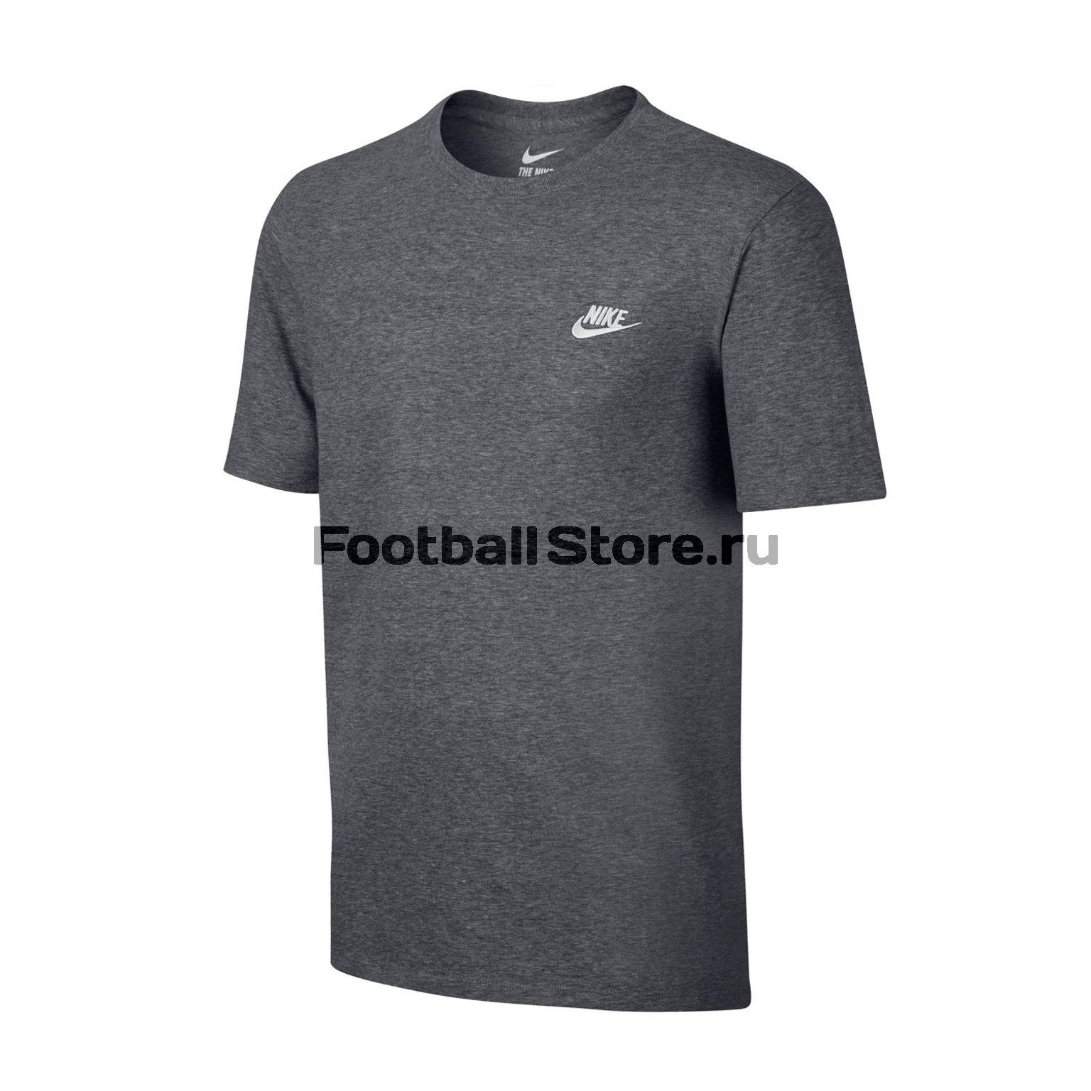 Футболка тренировочная Nike Tee Club Embrd Ftra 827021-091